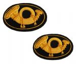 Infantry Officers Deluxe Kepi & Hat Insignia Badge Set